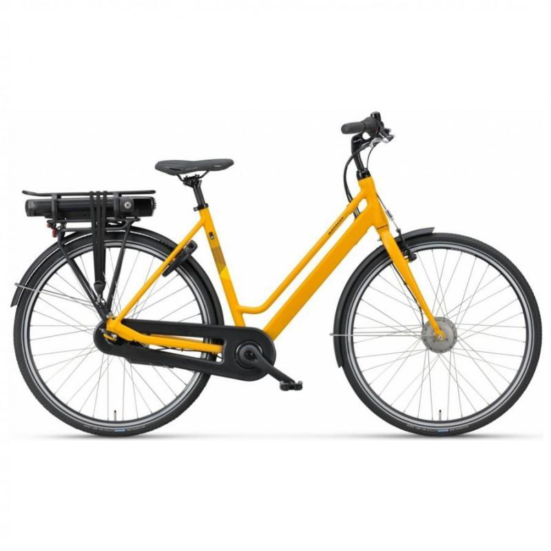 28 inch Batavus Fonk E-Go 7 Speed 300Wh elektrisch geel dames (48cm)