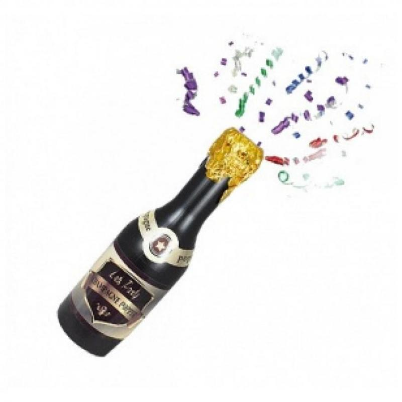 Ace of Spades Confetti Champain Bottle