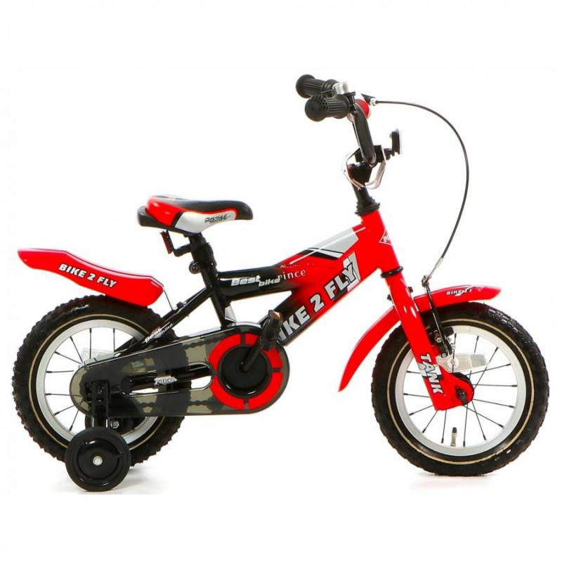 12 inch Popal Bike2Fly rood heren