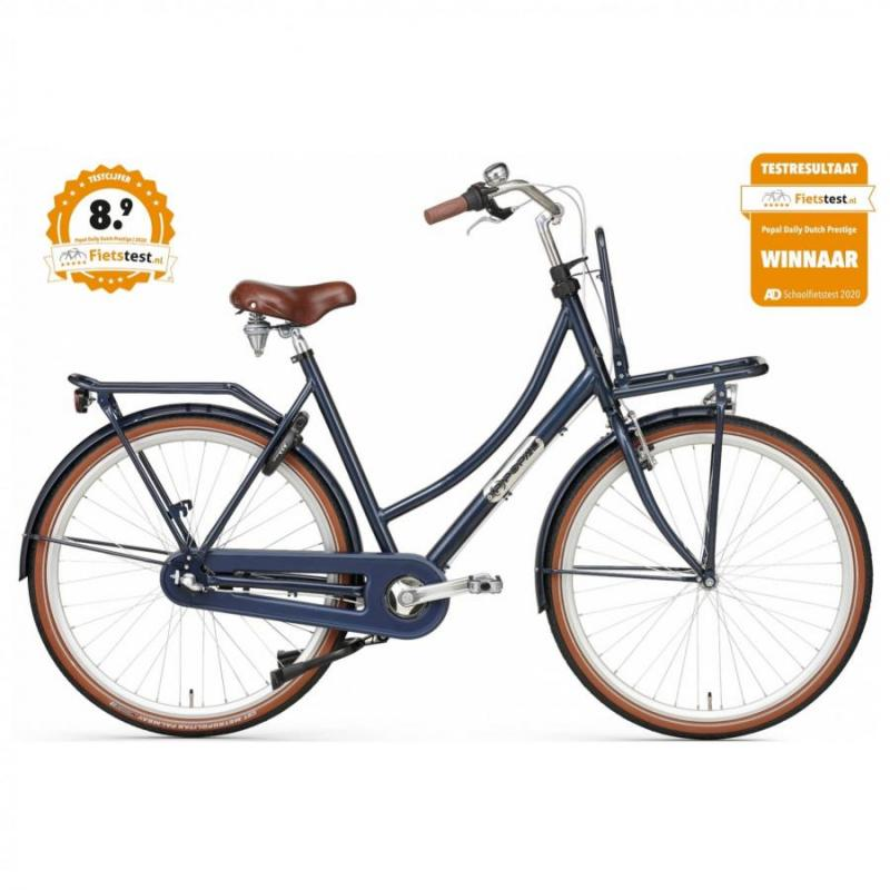 28 inch Popal Daily Dutch Prestige N3RN 3 Speed blauw dames (57cm)