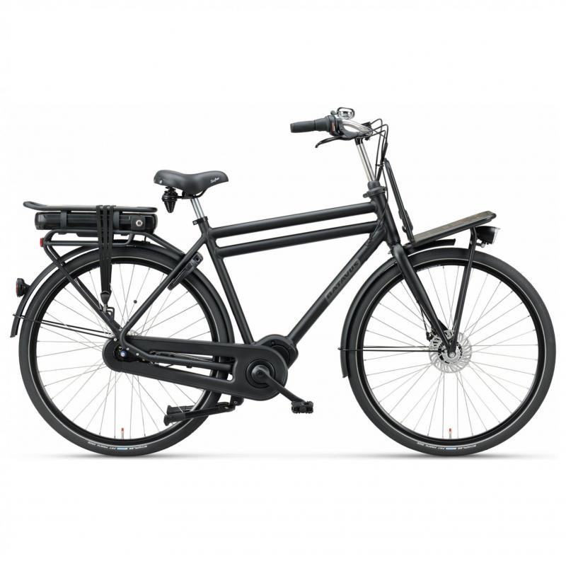 28 inch Batavus Packd E-Go Plus 7 Speed 300Wh elektrisch zwart heren (61cm)