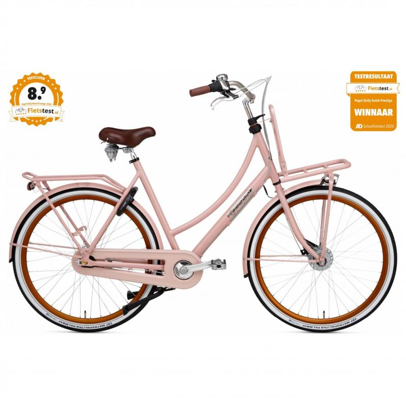 28 inch Popal Daily Dutch Prestige 7 Speed roze dames (57cm)