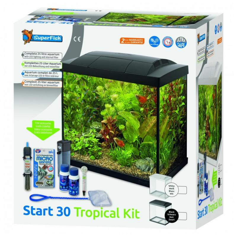 Superfish Aquarium Start 30 Tropical Kit Retro Led 30 liter wit
