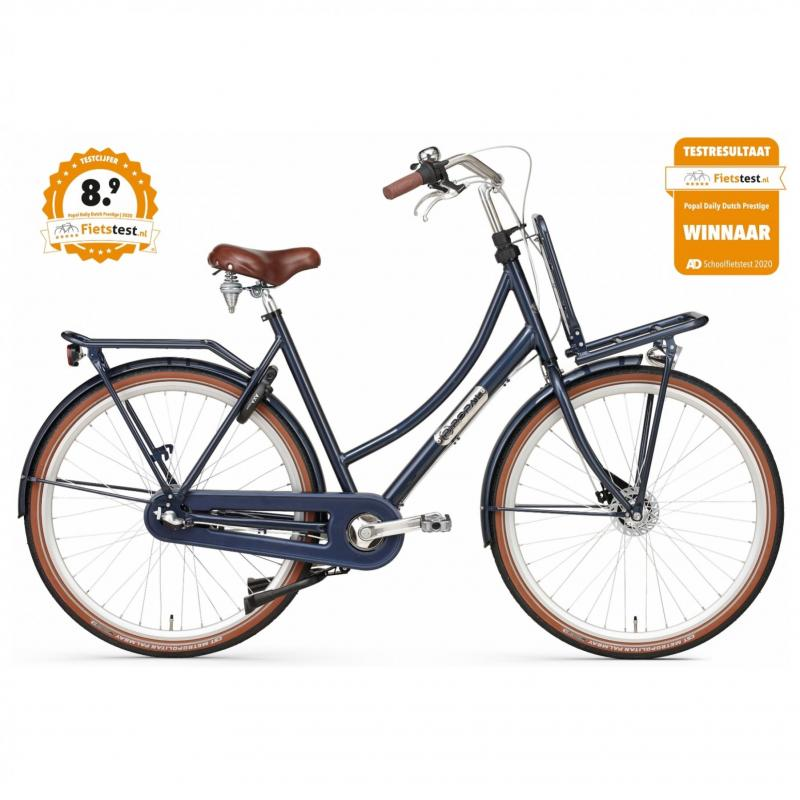 28 inch Popal Daily Dutch Prestige N3RB 3 Speed blauw dames (57cm)