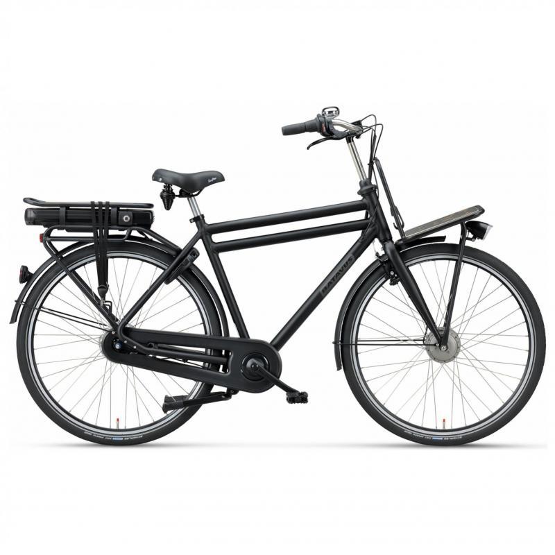 28 inch Batavus Packd E-Go 7 Speed 300Wh elektrisch mat-zwart heren (49cm)