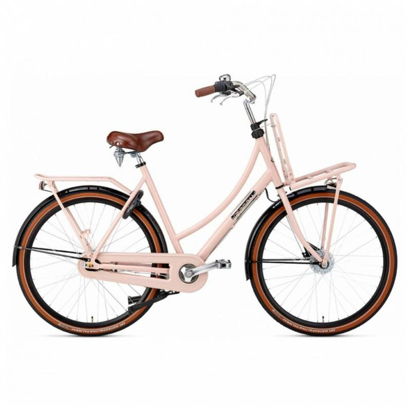 28 inch Popal Daily Dutch Prestige 7 Speed roze/zwart dames (57cm)