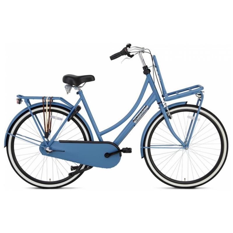 28 inch Popal Daily Dutch Plus 3 Speed blauw dames (57cm)