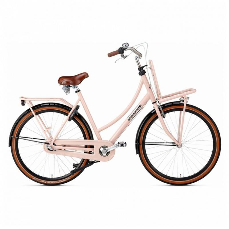 28 inch Popal Daily Dutch Prestige N3RN 3 Speed roze/zwart dames (50cm)
