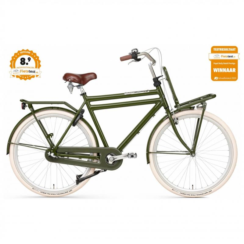 28 inch Popal Daily Dutch Prestige N3RN 3 Speed groen heren (57cm)