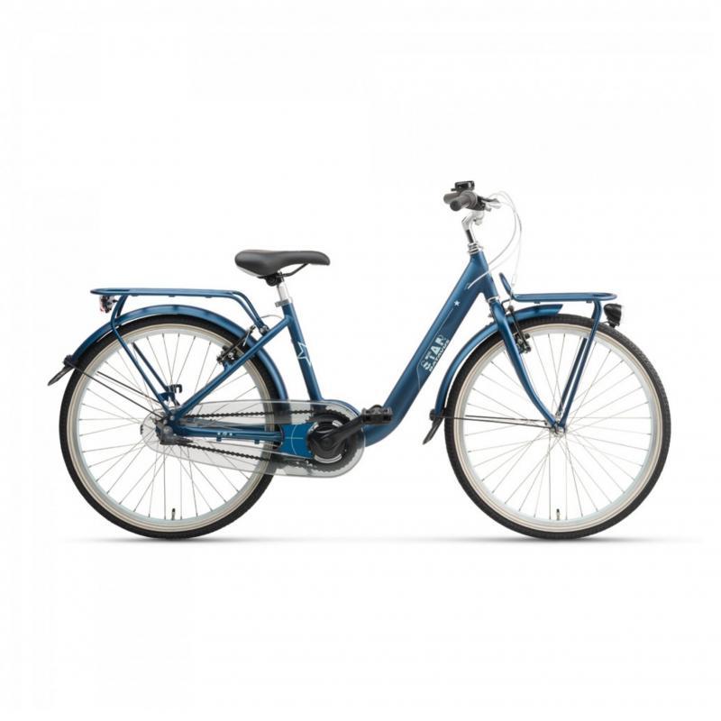 24 inch Batavus Star 3 Speed blauw dames