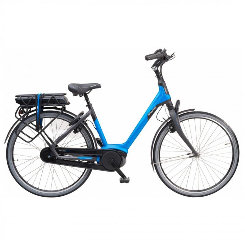 28 inch Sparta M8b 8 Speed 300 - 500Wh elektrisch blauw dames (48cm)