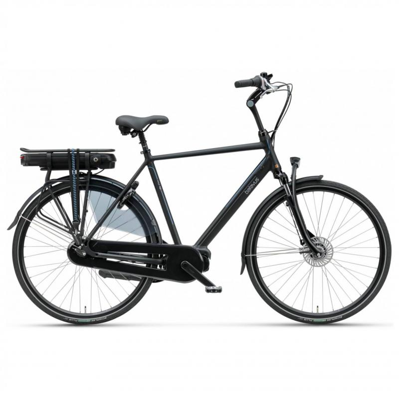 28 inch Batavus Wayz E-Go Deluxe 7 Speed 500Wh elektrisch mat-zwart heren (65cm)