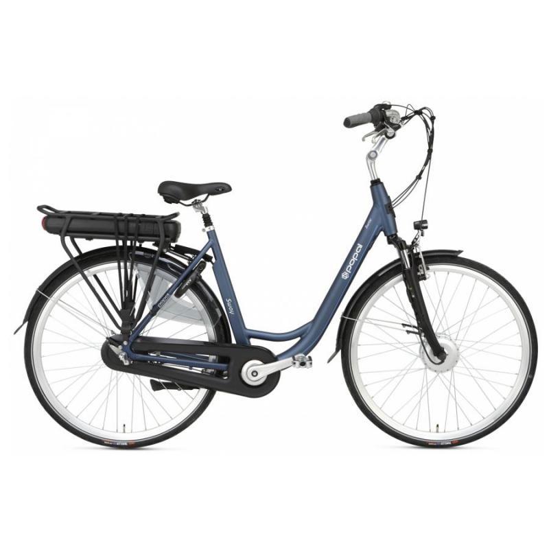 28 inch Popal Sway 3 Speed elektrisch 500Wh blauw dames (47cm)