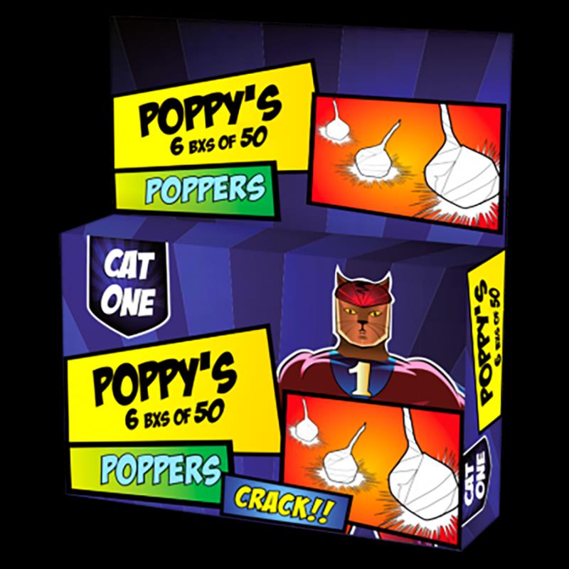 Poppy's knalerwten (50 stuks)