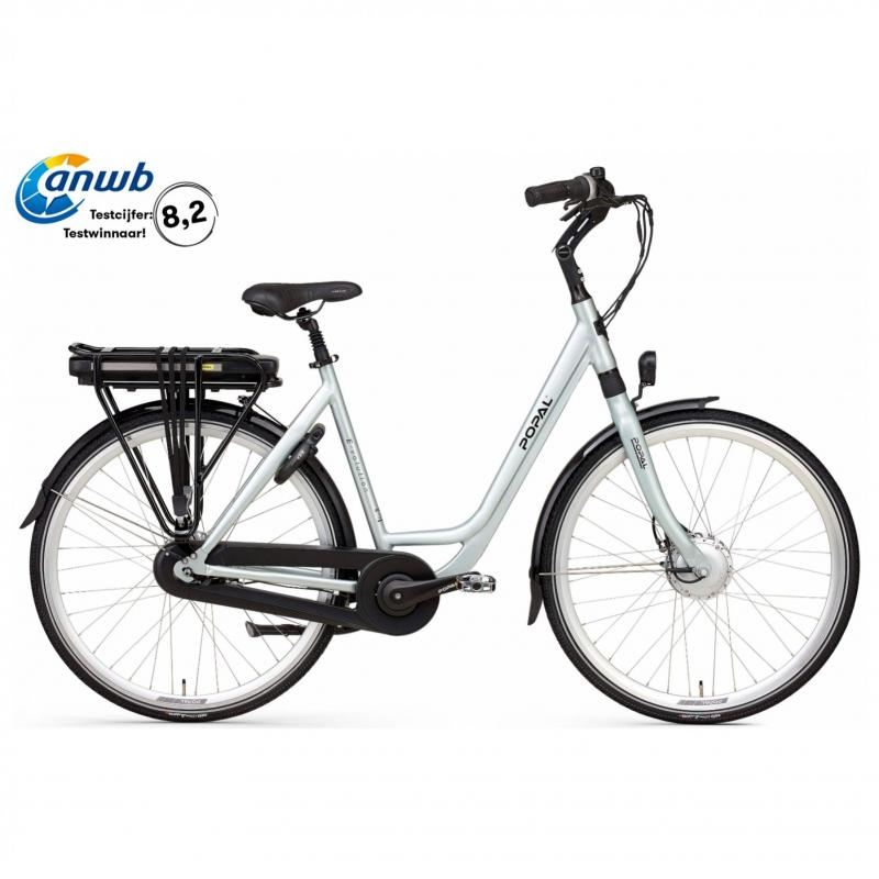 28 inch Popal E-Volution 12.2 8 Speed elektrisch 480Wh blauw dames (47cm)