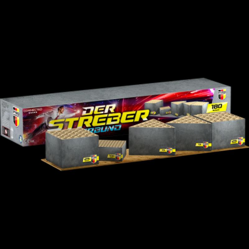 Pyro Mannschaft der Streber Verbund (180 schots connected cakebox)