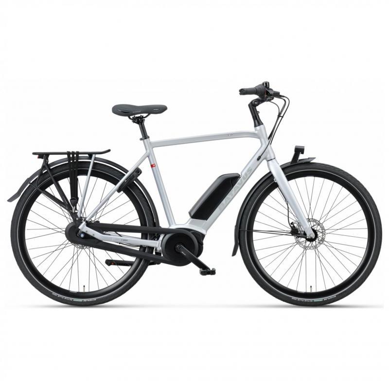 28 inch Batavus Dinsdag E-Go 8 Speed 300Wh elektrisch heren grijs (53cm)