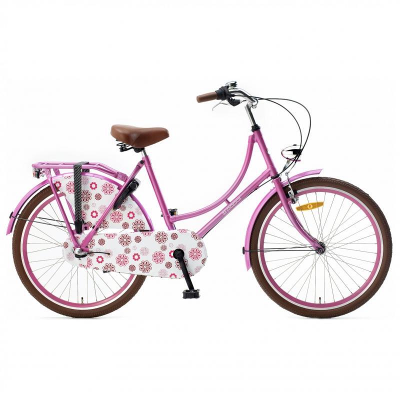 24 inch Popal Omafiets 3 Speed roze dames