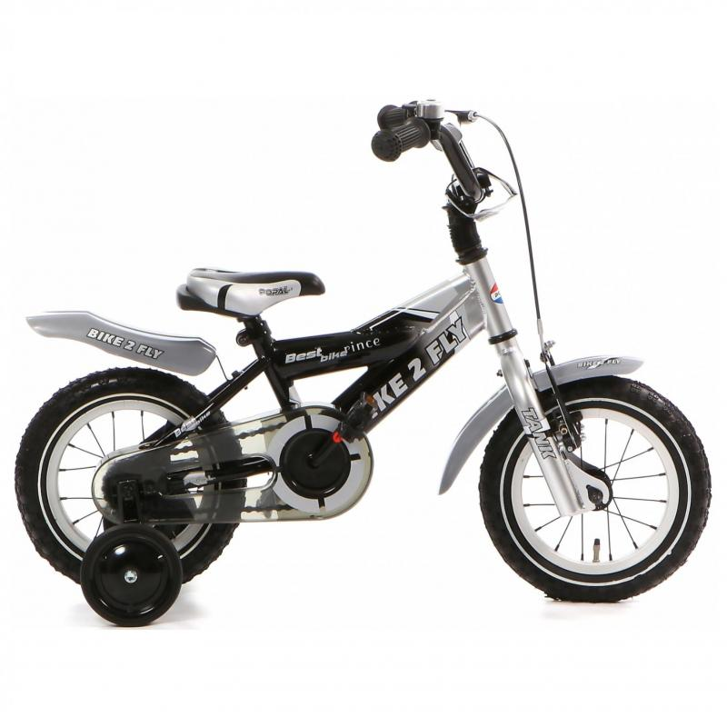 12 inch Popal Bike2Fly zwart/grijs heren