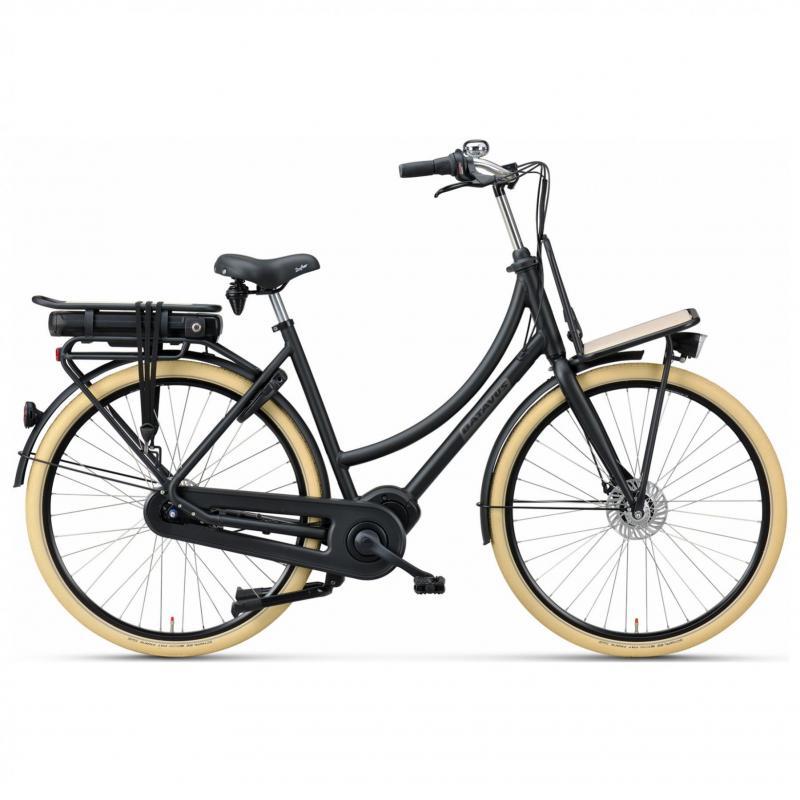 28 inch Batavus Packd E-Go Plus 7 Speed 300Wh elektrisch zwart dames (61cm)