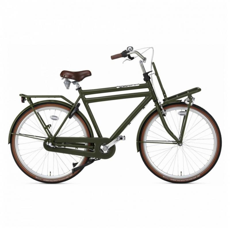 28 inch Popal Daily Dutch Prestige N3RN 3 Speed mat-groen heren (50cm)