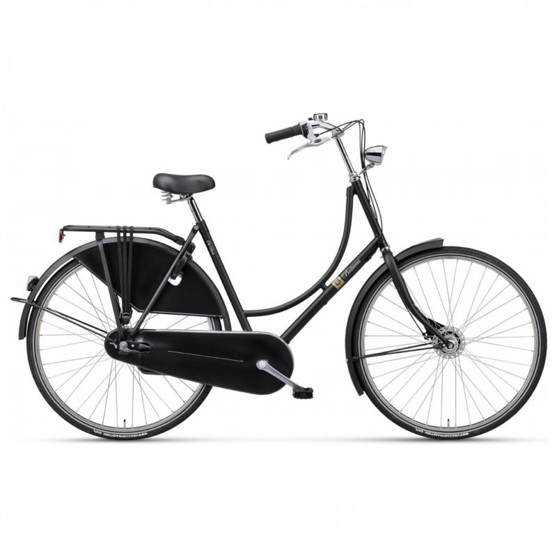 28 inch Batavus Old Dutch 3 Speed mat-zwart unisex (57cm)