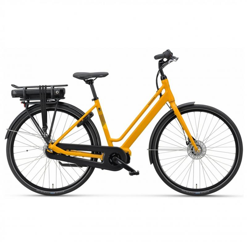 28 inch Batavus Fonk E-Go Plus 7 Speed 300Wh elektrisch geel dames (53cm)
