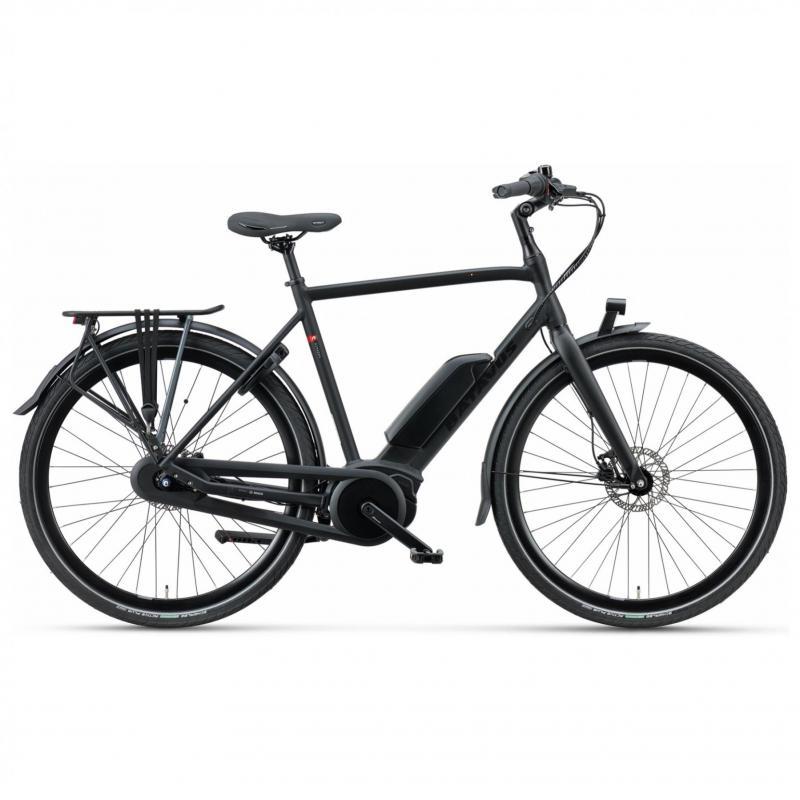 28 inch Batavus Dinsdag E-Go 8 Speed 300Wh elektrisch heren zwart (57cm)