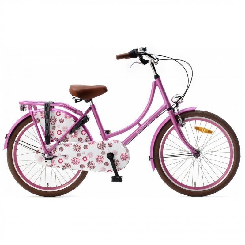 22 inch Popal Omafiets 3 Speed roze dames