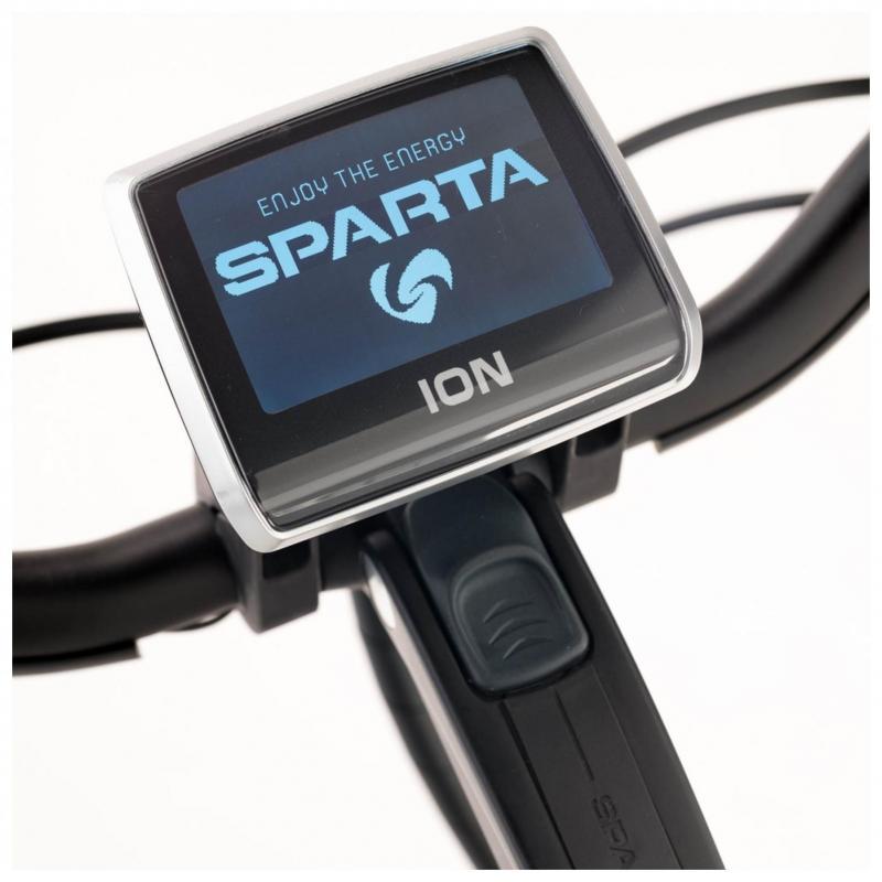 28 inch Sparta M8Ti Smart 8 Speed elektrisch 500Wh blauw/geel heren (57cm)