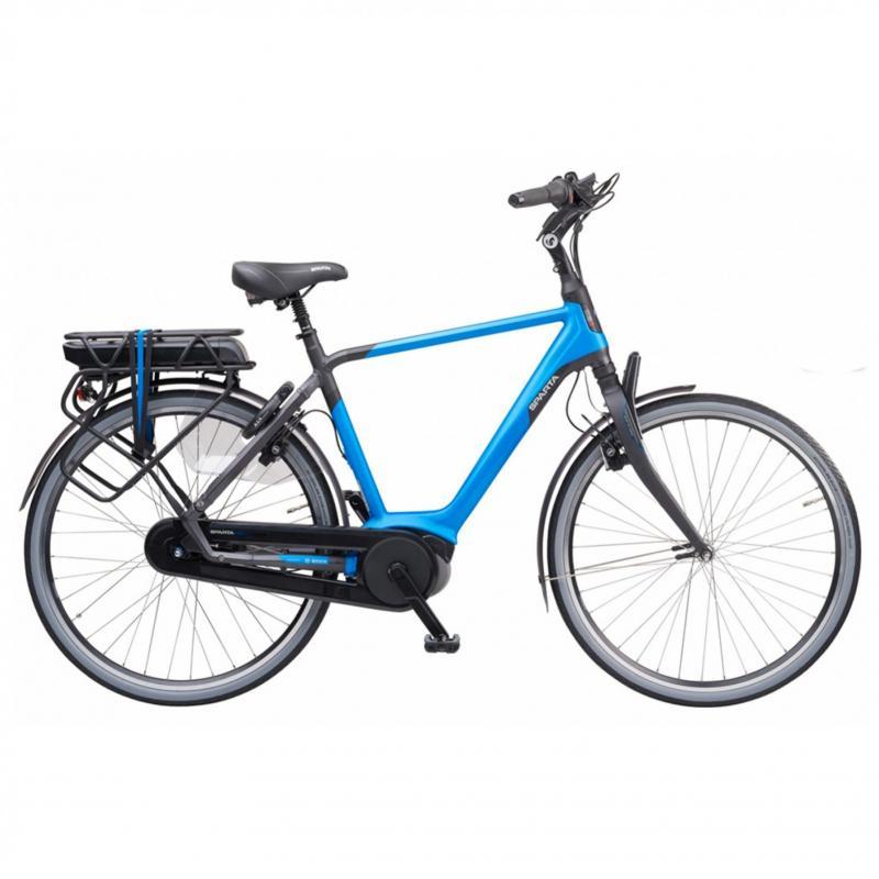 28 inch Sparta M8b 8 Speed 300 - 500Wh elektrisch blauw heren (65cm)