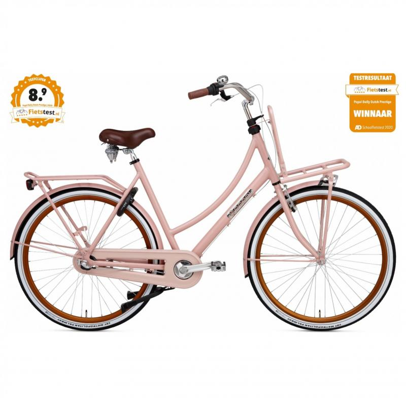 28 inch Popal Daily Dutch Prestige N3RN 3 Speed roze dames (50cm)