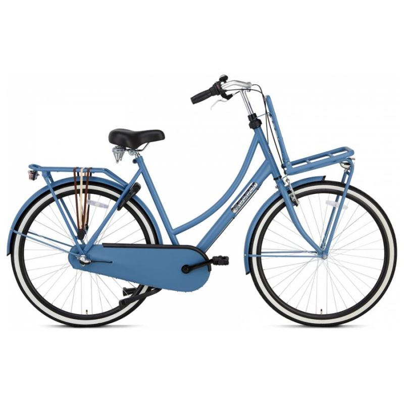 28 inch Popal Daily Dutch Plus 3 Speed blauw dames (50cm)