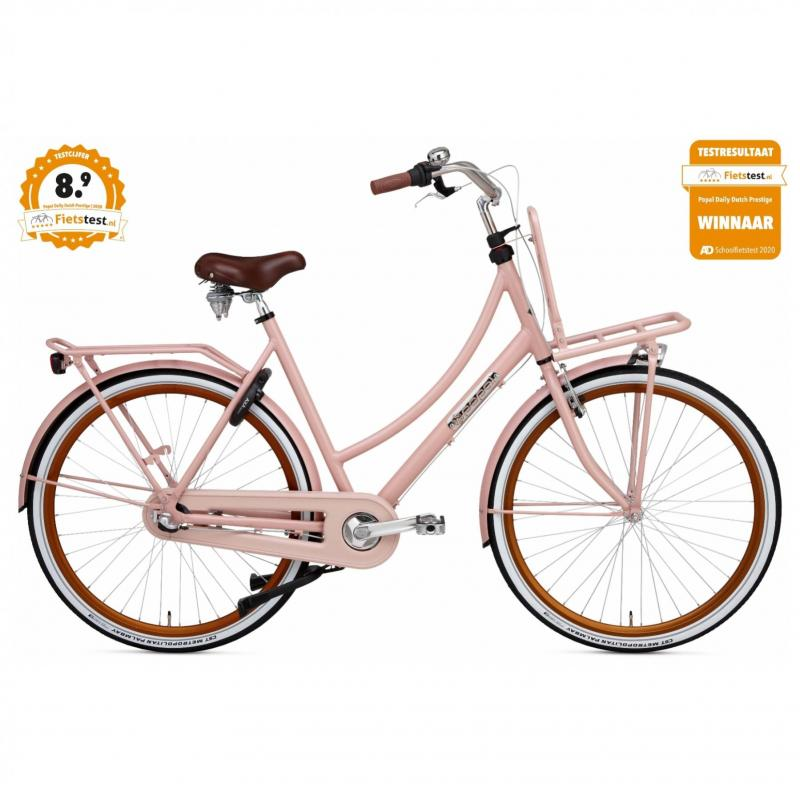 28 inch Popal Daily Dutch Prestige N3RN 3 Speed roze dames (57cm)