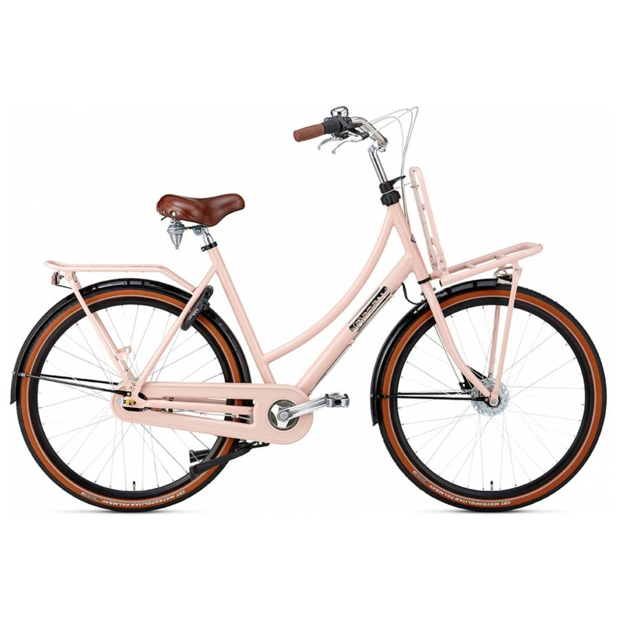28 inch Popal Daily Dutch Prestige 7 Speed roze/zwart dames (50cm)