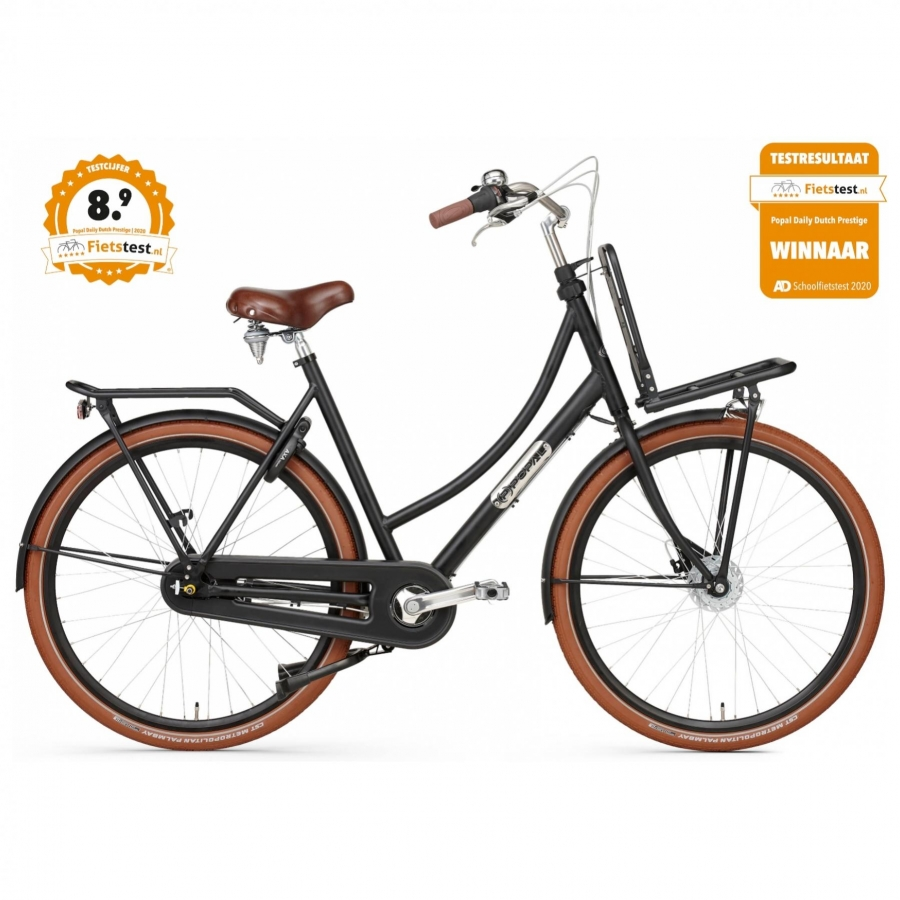 28 inch Popal Daily Dutch Prestige 7 Speed mat-zwart dames (50cm)