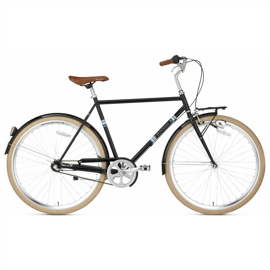 28 inch Popal Capri 3 Speed zwart heren (57cm)