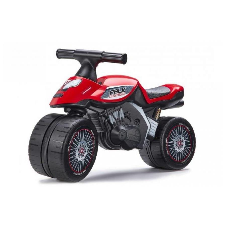 Falk Baby Racing Team Moto loopfiets rood