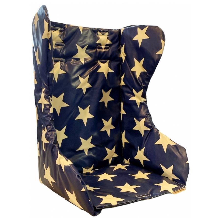 Kussen Kinderzitje Bakfiets stars blauw