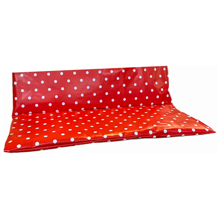 Bakfiets kussen 24x60x19cm rood