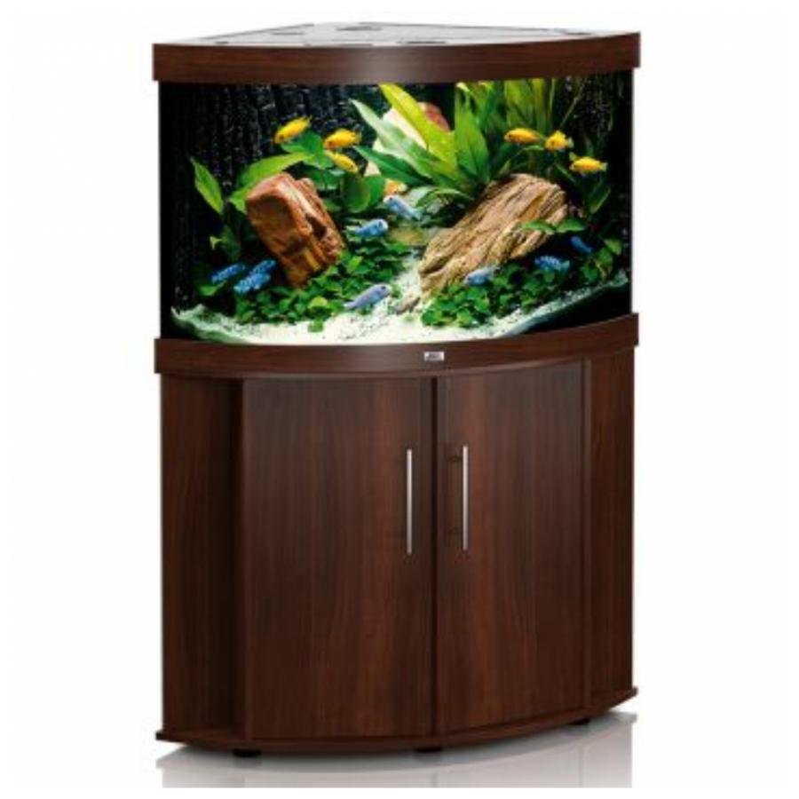 JUWEL Trigon 190 SBX Aquariumcombinatie met LED-verlichting, filter, verwarming en onderkast, Donker hout