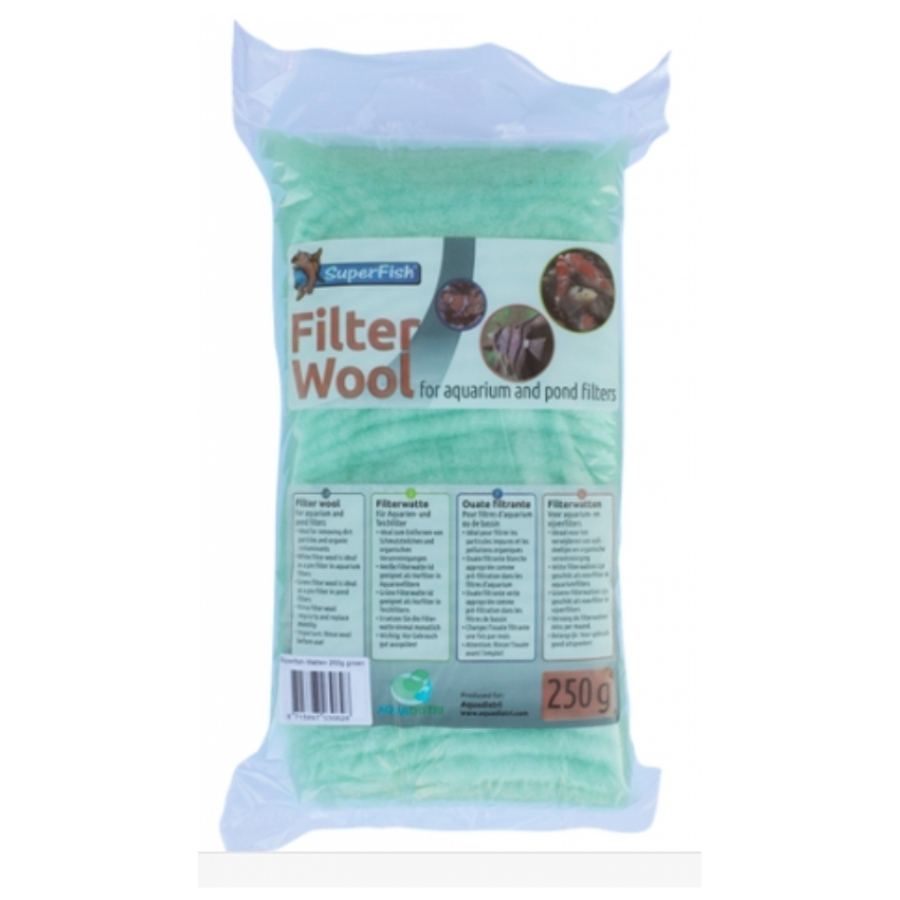 Groene filterwatten grof 250g