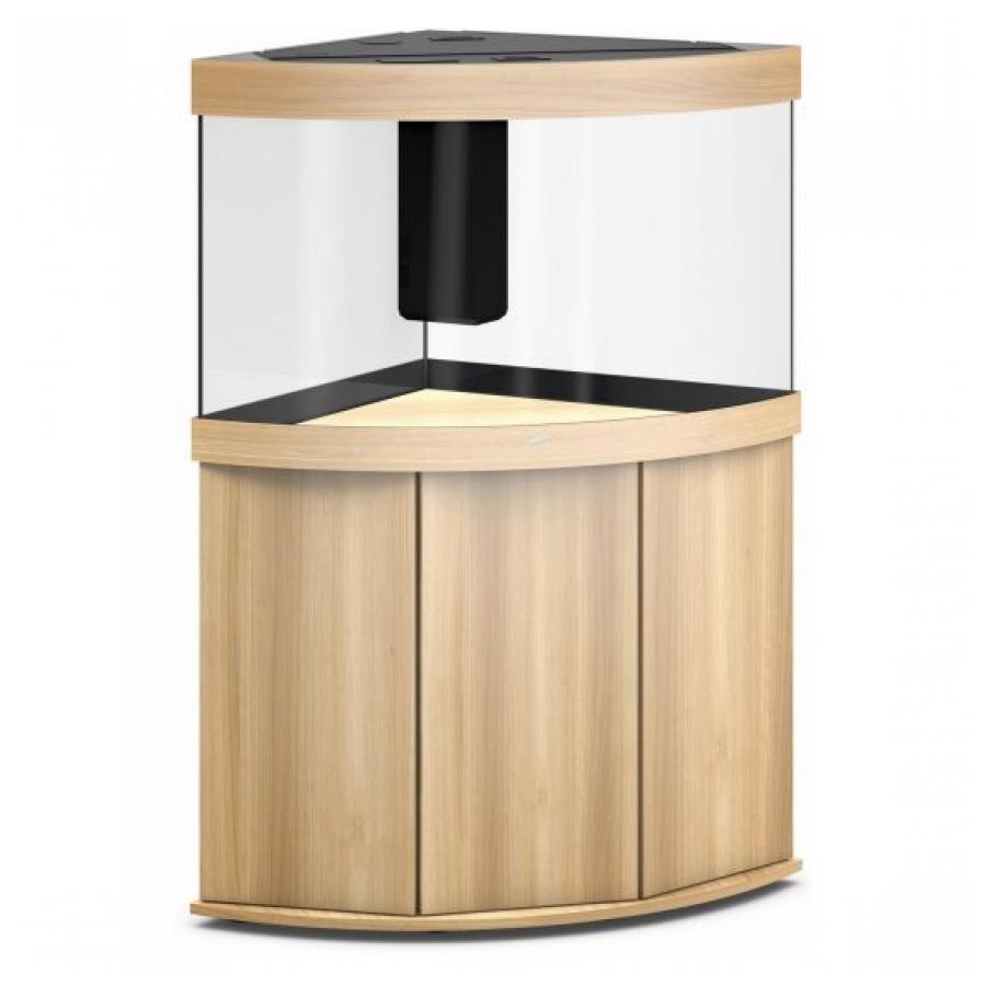 JUWEL Trigon 190 SBX Aquariumcombinatie met LED-verlichting, filter, verwarming en onderkast, Licht hout