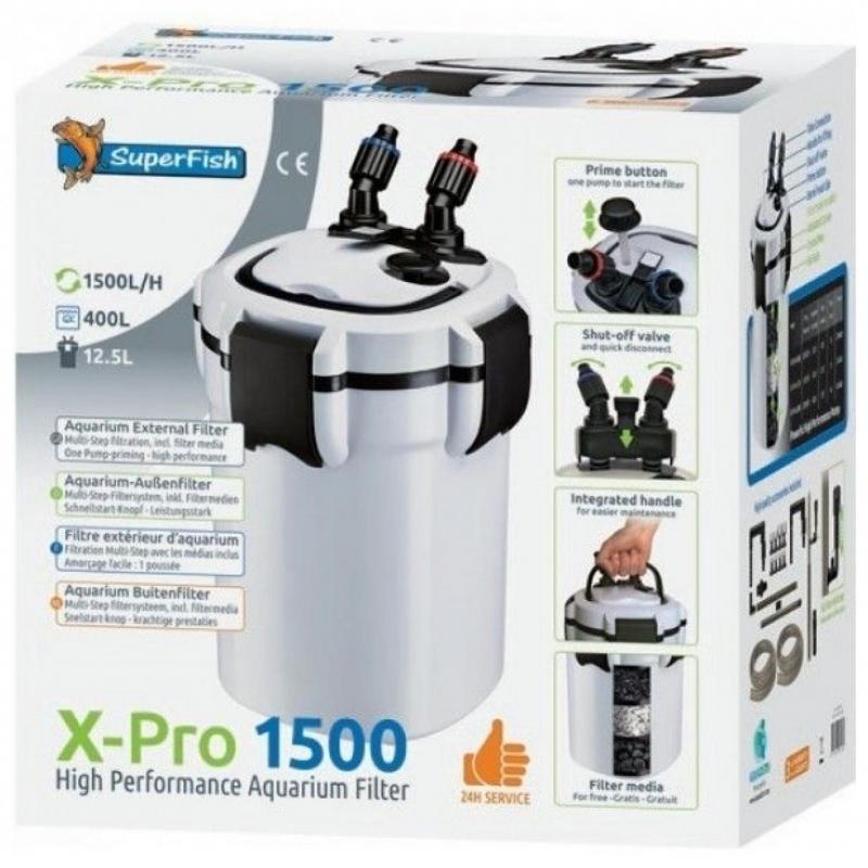 Sf x pro 1500 (400L) buiten filter
