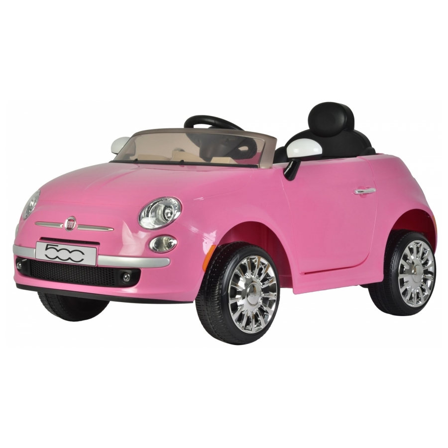 Elektrische auto Fiat 500C roze
