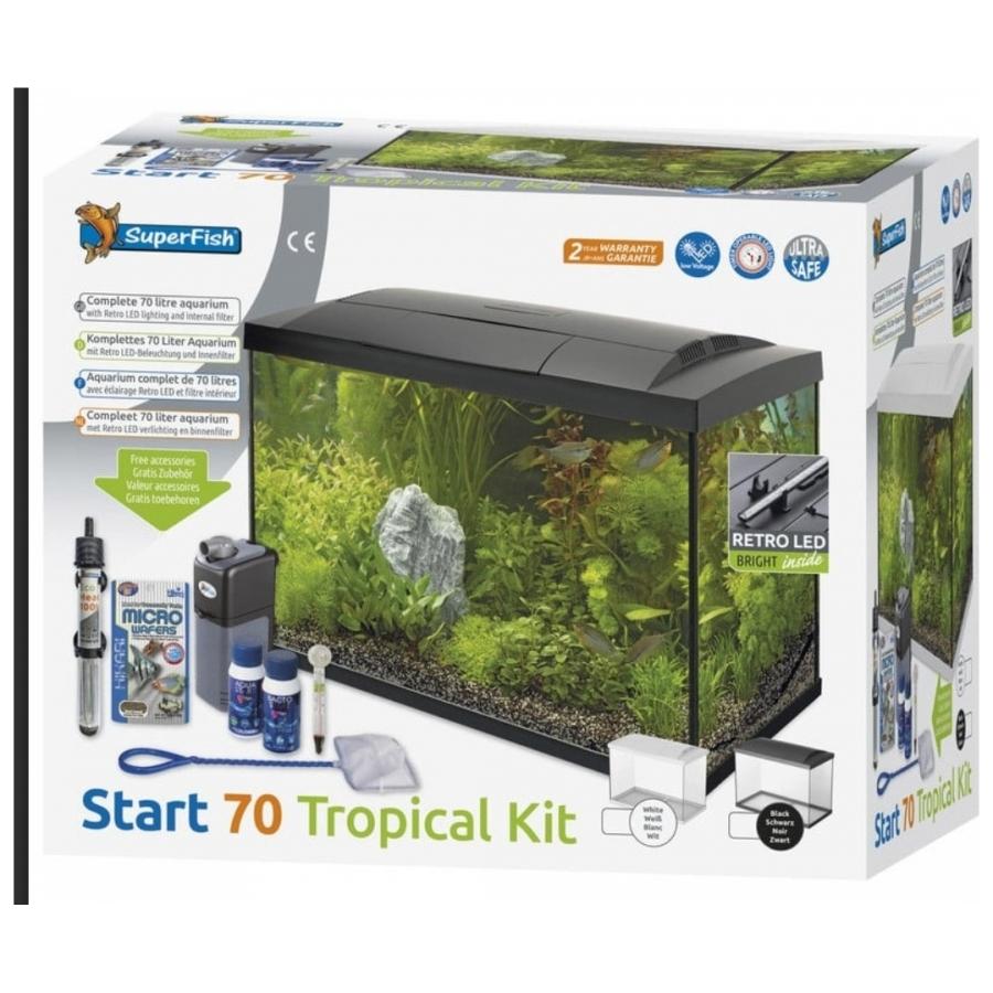 Aquarium set Superfish Start 70 Tropical Kit 70 liter zwart