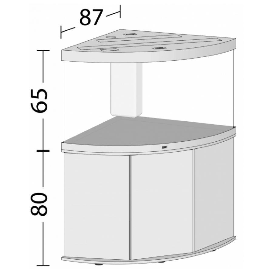 JUWEL Trigon 350 SBX Aquariumcombinatie met LED-verlichting, filter, verwarming en onderkast. Wit