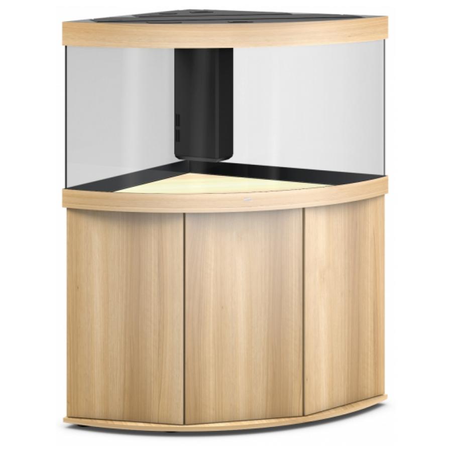 JUWEL Trigon 350 SBX Aquariumcombinatie met LED-verlichting, filter, verwarming en onderkast. Licht hout
