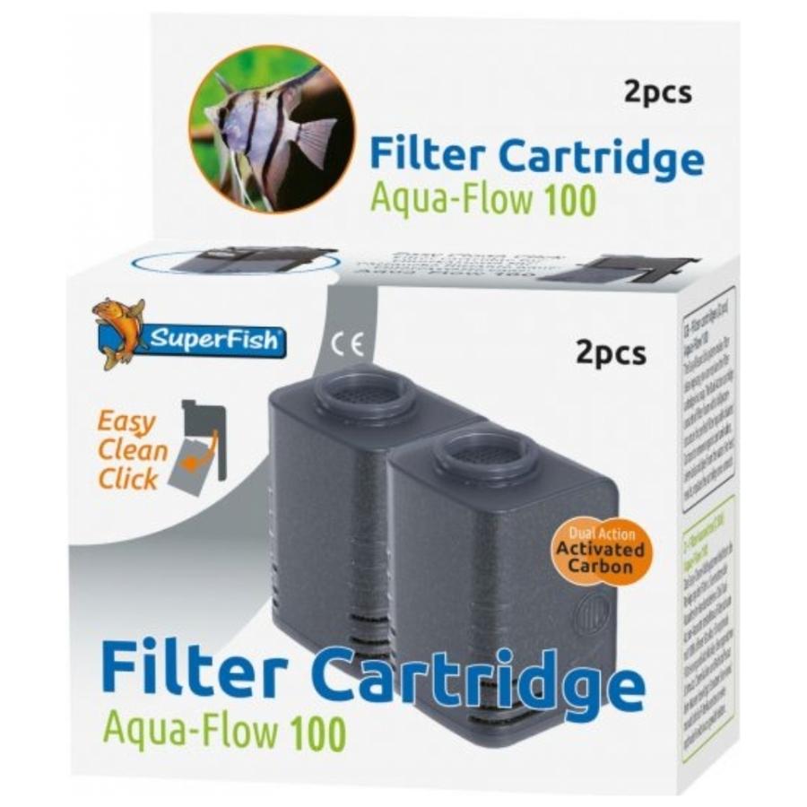Superfish aqua flow 100 cartridge 2 stuks