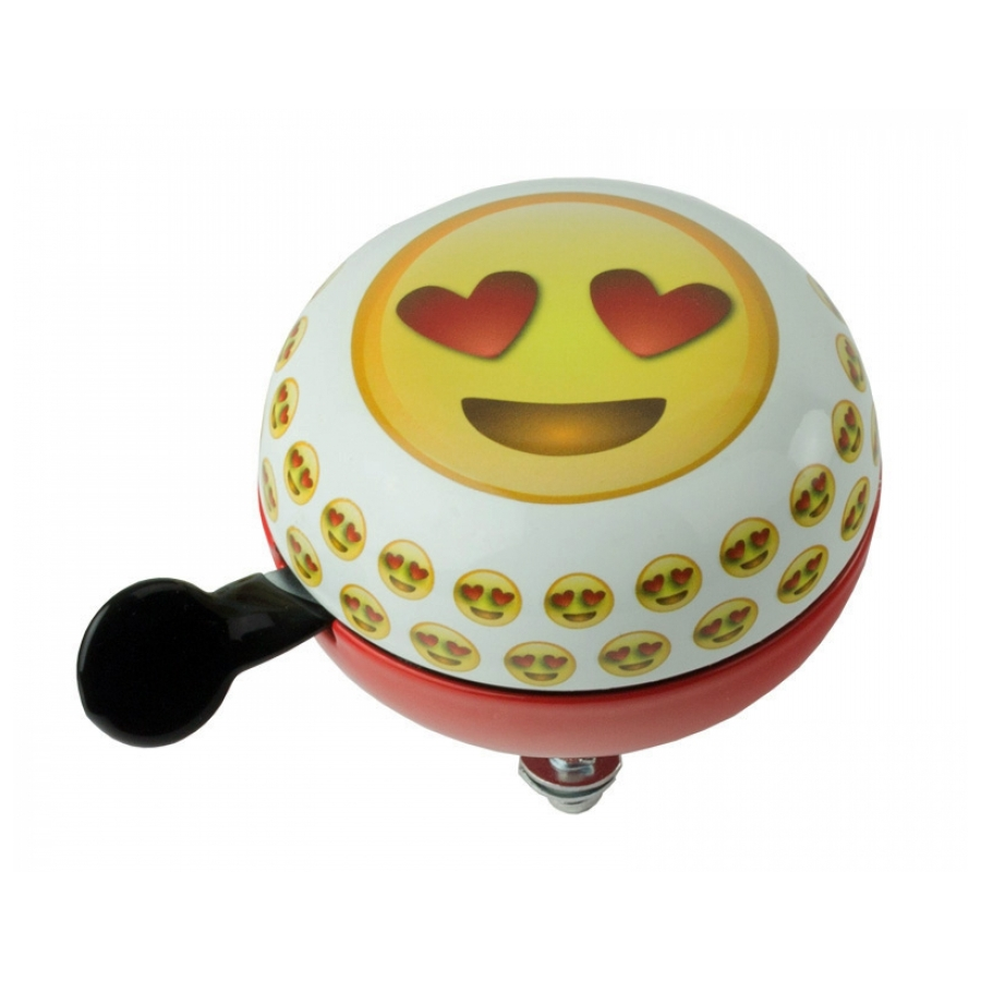 Widek Ding Dong Emoticon Heart Eyes 60mm wit/rood